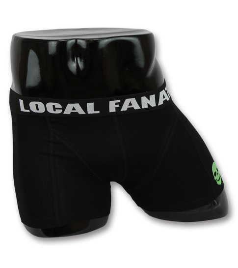 Local Fanatic Heren Boxers Sale - Mannen Ondergoed Doodskop - Zwart