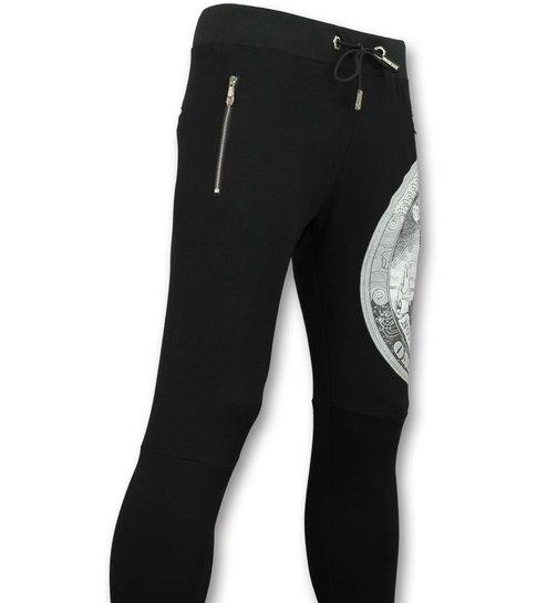 ENOS Trainingspakken Heren - Joggingspak mannen - Skull Dolar - Zwart