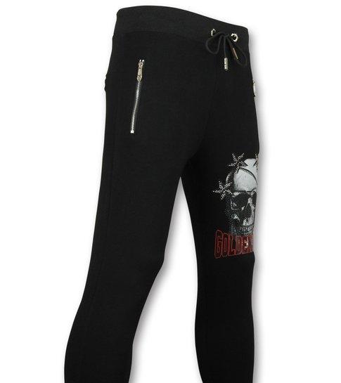 ENOS Trainingsbroek Mannen -  Joggers Heren  Skull  - Zwart