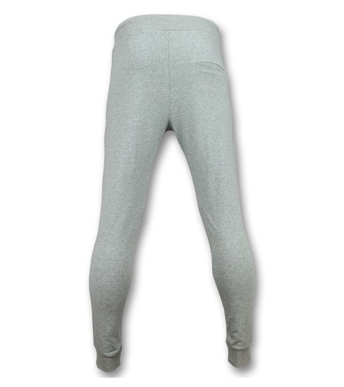 ENOS Sportbroek Mannen Lang  - Joggingbroek Slim Fit Heren - F582G - Grijs