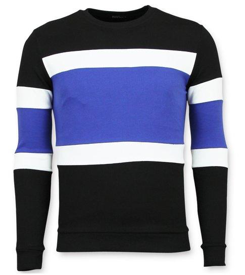 Enos Striped Sweater Mens  - Heren Sweater Sale - Blauw