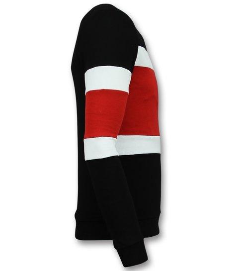 Enos Striped Sweater Mens  - Goedkope Heren Truien - Rood