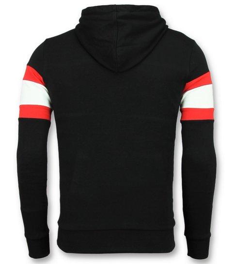 Enos Sweater met Capuchon Heren - Zwarte Hoodie Mannen