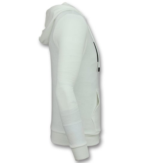 Enos Vest met Capuchon Heren - ICONS Trui Mannen - Wit
