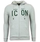 Enos Vest met Capuchon Mannen - ICONS Sweater Heren - Grijs