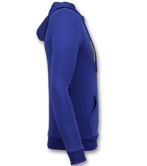 Enos Vest met Capuchon Mannen - ICONS Trui - Blauw