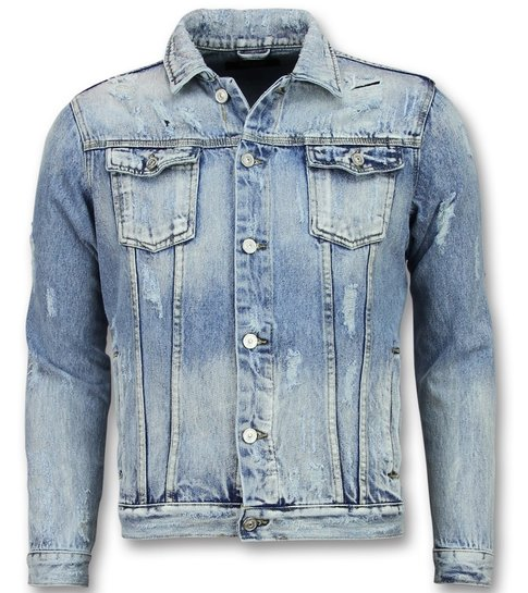 Enos Spijkerjack Heren - Spijkerjas Mannen- Jeans jas- Blauw