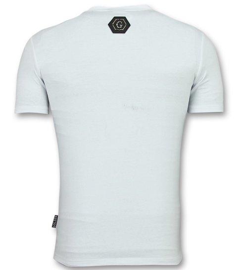 ENOS Skull Shirt Heren - T shirts Kopen Heren - Wit