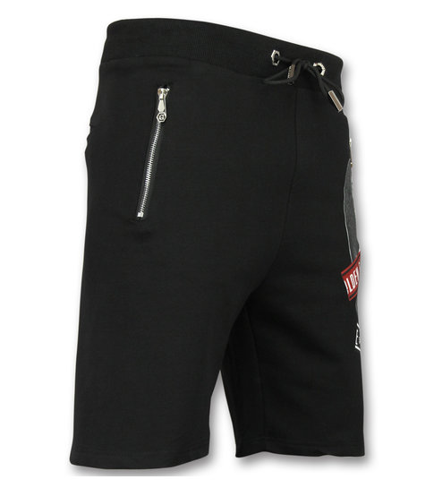 ENOS Korte Joggingbroek Heren - Zwarte Mannen Shorts