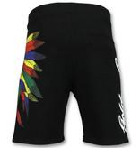 ENOS Mannen Korte Broek - Shorts Heren - Zwart