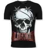 ENOS Goedkope T shirts Heren - Glitter Shirt - Zwart