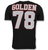 Golden Gate Goedkope T shirts Heren - Glitter Shirt - Zwart