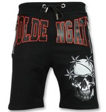 ENOS Zwarte Korte Broek Heren - Shorts Mannen