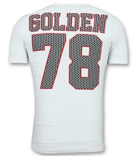 ENOS T shirts voor Mannen - Glitter Shirt - Wit