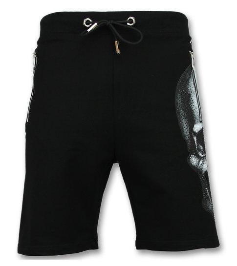 ENOS Korte Broek Heren  - Shorts Mannen - Zwart