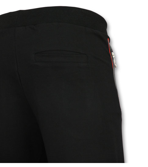 ENOS Korte Broek Joggingpak  -  Trainingsbroek met  Zakken - F572 - Wit