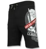 ENOS Korte Broek Trainingspak - Verkoop van Joggingpakken Heren - F567 - Zwart