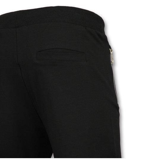 ENOS Mannen Sweatshort - Zwarte Korte Broek Heren