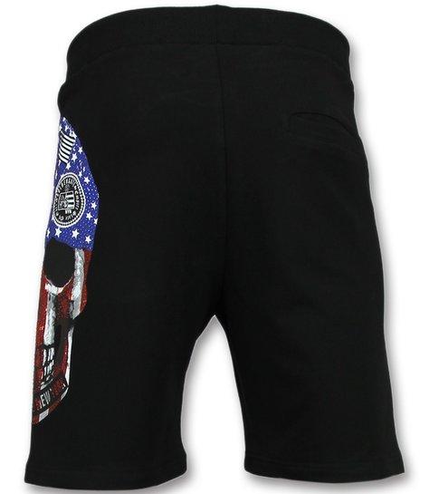 Golden Gate Amerikaanse Vlag Kleding  - Fitness Trainingspak Mannen - F575 - Wit