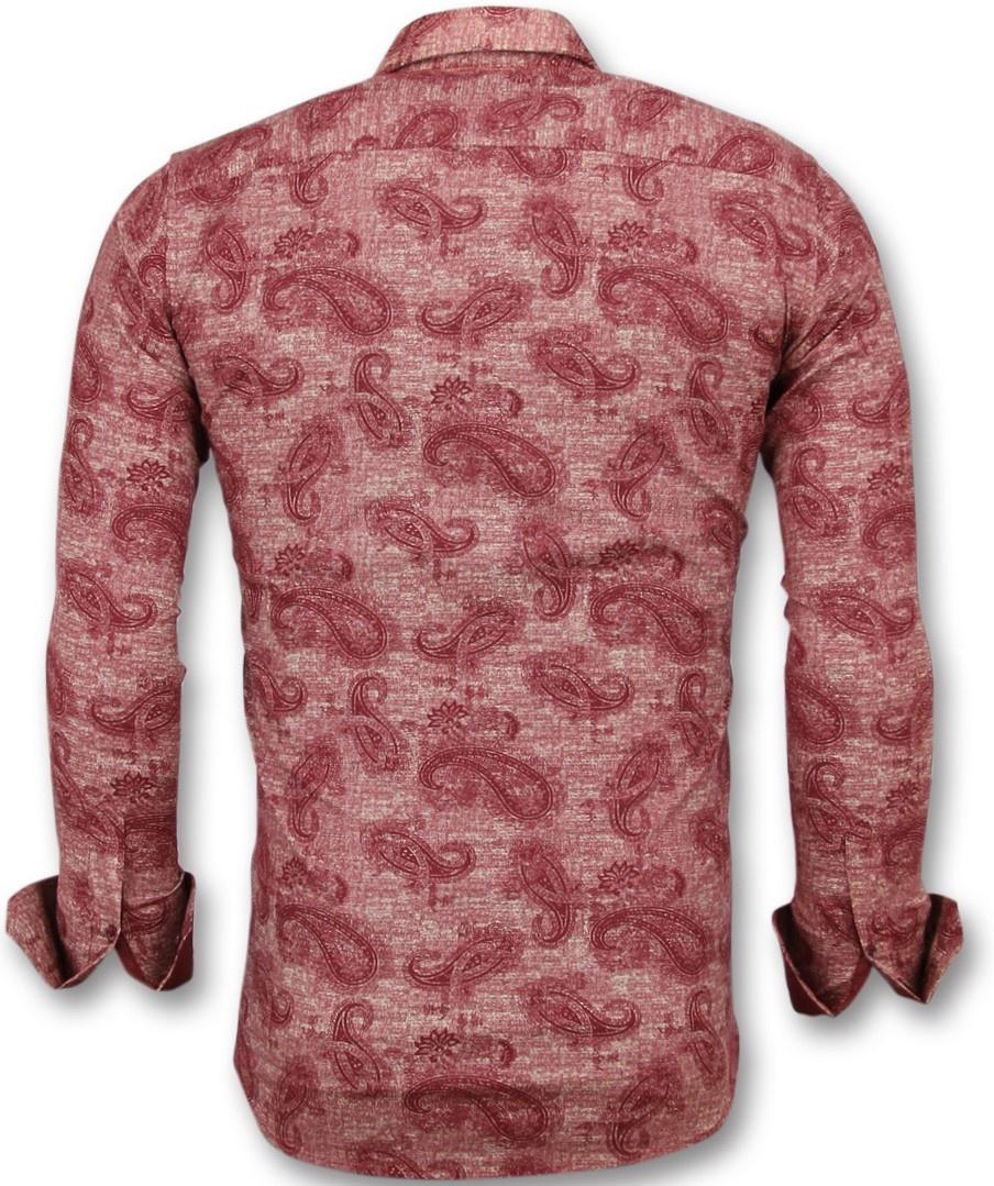Heren Overhemd Bloemenprint.Heren Overhemd Bloemenprint Slim Fit Blouse Mannen Styleitaly Nl