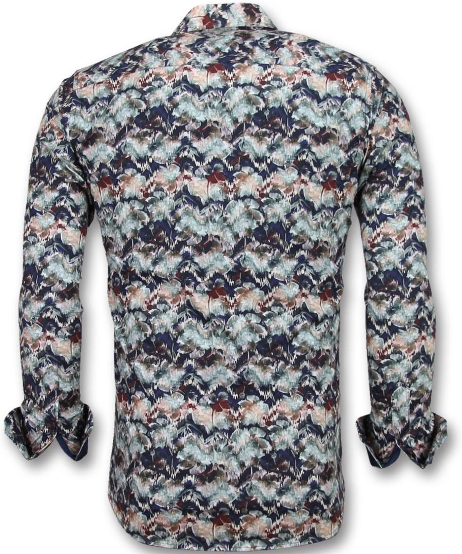 ea606359bf2b13 ... Gentile Bellini Bijzondere Heren Overhemden - Luxe Italiaanse Blouse -  3008 - Blauw