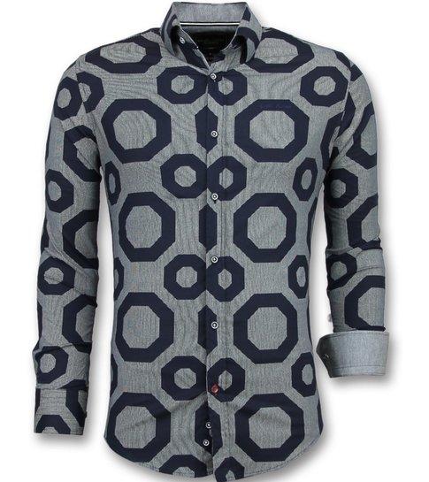 Gentile Bellini Business Overhemden Heren - Blouse Slim Fit- 3011 - Blauw