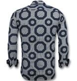TONY BACKER Business Overhemden Heren - Blouse Slim Fit- 3011 - Blauw