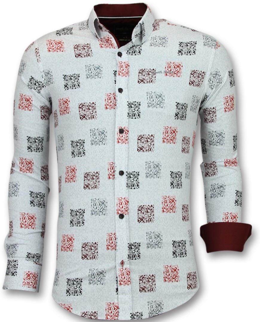 Wit Getailleerd Overhemd.Getailleerde Overhemden Mannen Bloemen Blouse Heren Styleitaly Nl