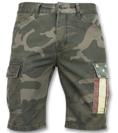 Enos Camouflage korte broek mannen - Goedkope bermuda broeken - 9017 - Grijs