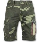 Enos Heren Camouflage Korte Broek - Bermuda Heren Online -9017 - Groen