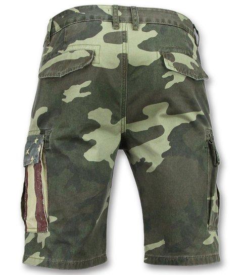 Heren Camouflage Korte Broek Bermuda Heren Online 9017 Groen