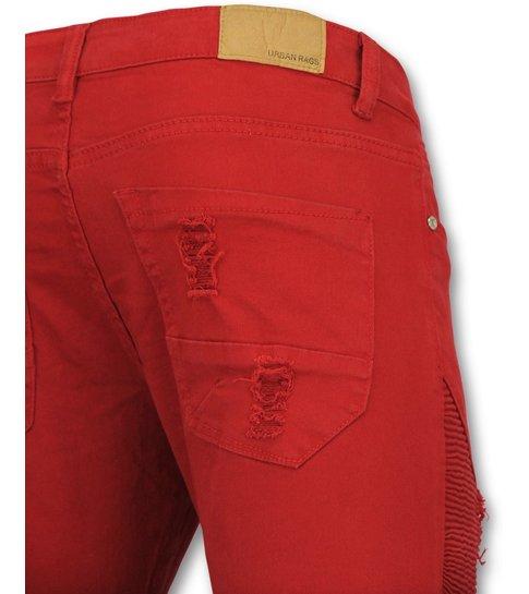 Urban Rags Rode broeken mannen - Biker jeans heren - U157