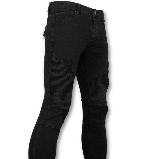 TRUE RISE Zwarte biker jeans  - Skinny jeans voor heren - 3010-2