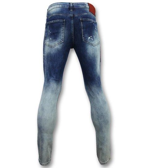 Addict Jeans slim Mannen - Heren stretch spijkerbroek - 013 - Blauw