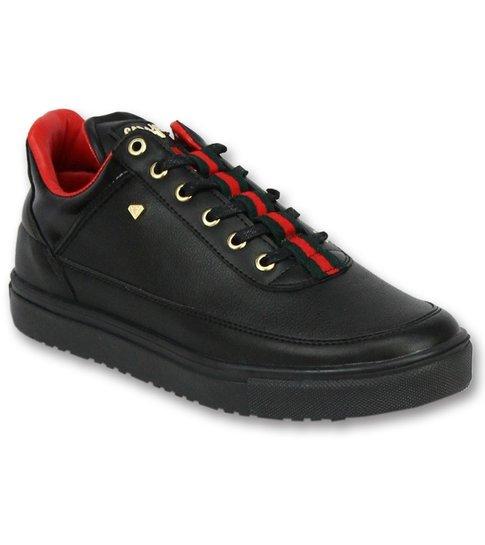 43691fb4de6 ... Cash Money Schoenen Kopen Heren Sneakers - Mannen Line Black Green Red  - CMP11 - Zwart ...