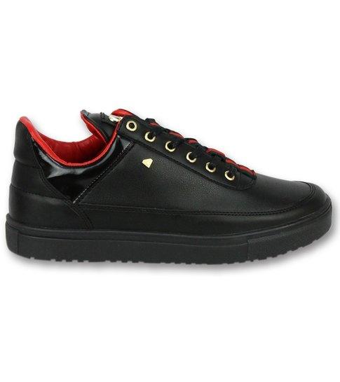 Cash Money Schoenen Kopen Heren Sneakers - Mannen Line Black Green Red - CMP11 - Zwart