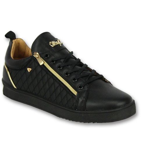 Cash Money Coole Sneakers Heren - Mannen Sneaker Jailor Full Black - CMP97 - Zwart