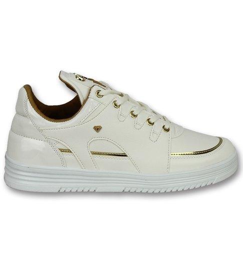 Cash Money Hoge Sneakers Online - Mannen Sneaker Luxury White - CMS71 - Wit