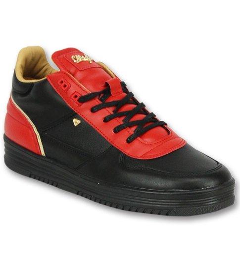 Cash Money Mannen Schoenen Sneakers - Luxury Black Red- CMS72 - Rood