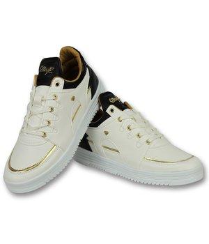 2a07fbb7c4e Cash Money Heren Sneakers Hoog - Mannen Schoenen Luxury White Black - CMS71  - Wit