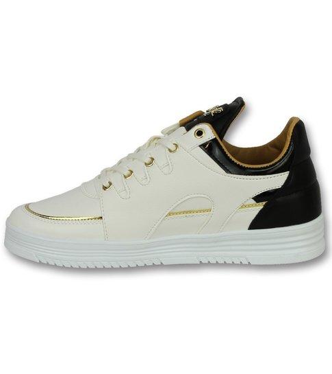 Cash Money Heren Sneakers Hoog - Mannen Schoenen Luxury White Black - CMS71 - Wit
