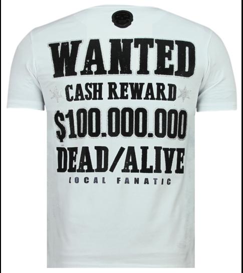 Local Fanatic Beagle Boys - Coole T shirt Mannen - 6319W - Wit