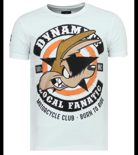 Local Fanatic Dynamite Coyote - Leuke T shirt Heren - 6320W - Wit