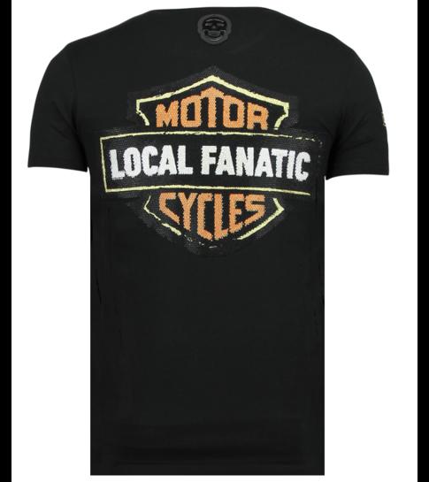 Local Fanatic Dynamite Coyote - Bedrukte T shirt Heren - 6320Z - Zwart