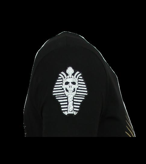 Local Fanatic Rebel Pharaoh - Exclusieve T shirt Mannen - 6322Z - Zwart