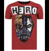 Local Fanatic Hero Mask - Zomer T shirt Heren - 6323B - Bordeaux