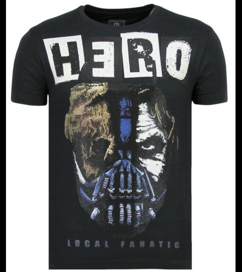 Local Fanatic Hero Mask - Carnaval T shirt Heren - 6323N - Navy