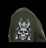 Local Fanatic Savage Samurai - Print T shirt Heren - 6327G - Groen