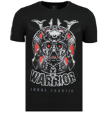 Local Fanatic Savage Samurai - Merk T shirt Heren - 6327Z - Zwart