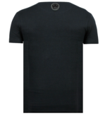 Local Fanatic ICONS Vertical - Bedrukte T shirt Heren - 6362N - Navy